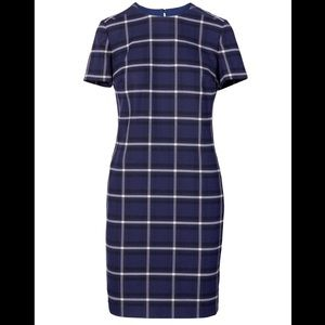 NWT windowpane plaid shift dress - PXS